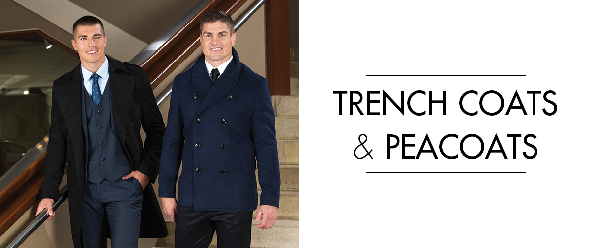 trench coat and peacoat
