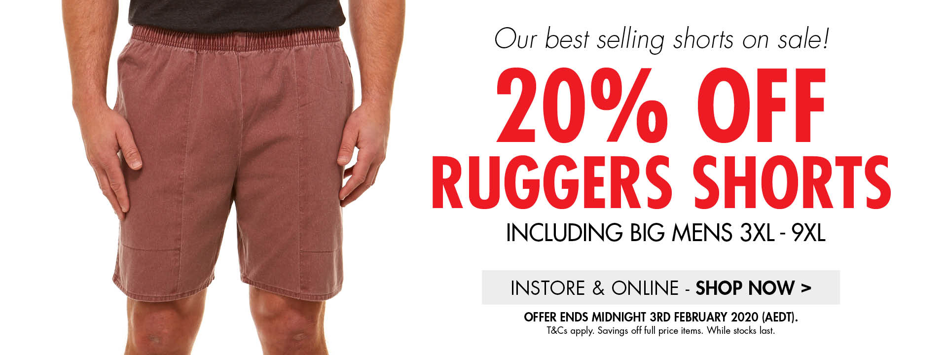Ruggers Shorts 20% off